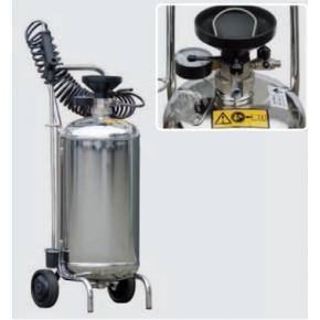 Sprayudlægger med rustfri tryktank