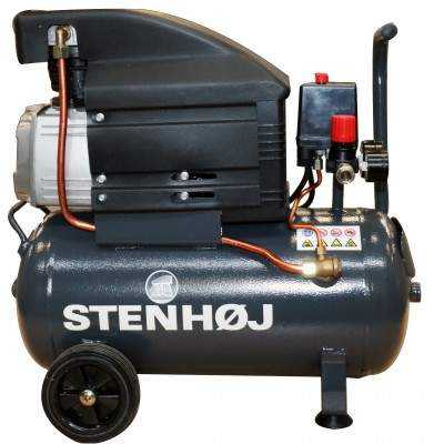 Kompressor 24 liter oliesmurt