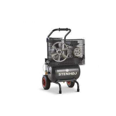 Kompressor 20 liter oliesmurt sækkevogn