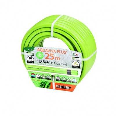 "Claber vandslange lysgrøn ""AQUAVIVA"" 3/4"" rulle á 25m max. 7 bar -10°C- +60°C"
