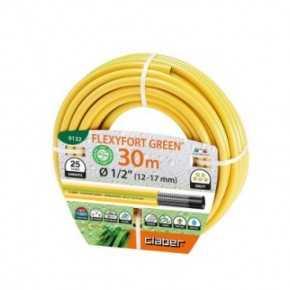 "Claber vandslange gul ""FLEXYFORT GREEN"" 1/2"" rulle á 30m max.8 bar -10°C- +60°C"