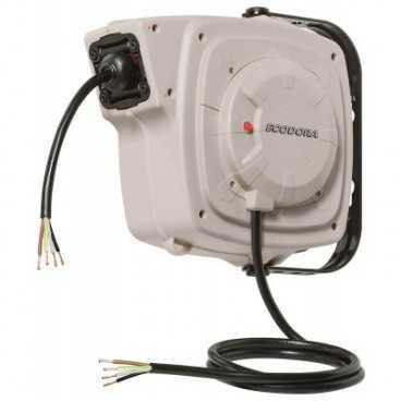 Aut. kabelopruller 400V IP44 5 x 1,5mm² x 7m gummi kabel u/stik