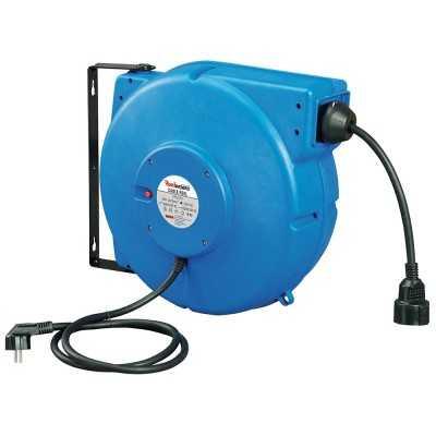 Aut. kabelruller IP42 blå 3 x 1,5mm² x 25m kabel danske stik