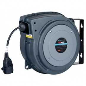 Aut. kabelopruller IP42 3 x 1,5mm² x 20m kabel danske stik