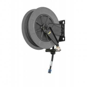"""Aut. slangeopruller i Pulverlakeret/ABS 15+1m 3/8""""gummisl. 20 bar, inkl. kobling"""