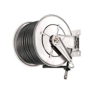 Aut. slangeopruller til diesel 10 bar 25/35mm x 20m antistatisk gummislange