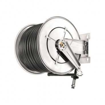 Aut. slangeopruller til diesel 10 bar 25/35mm x 30m antistatisk gummislange